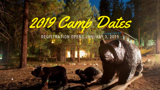 2019 Camp Dates Released!