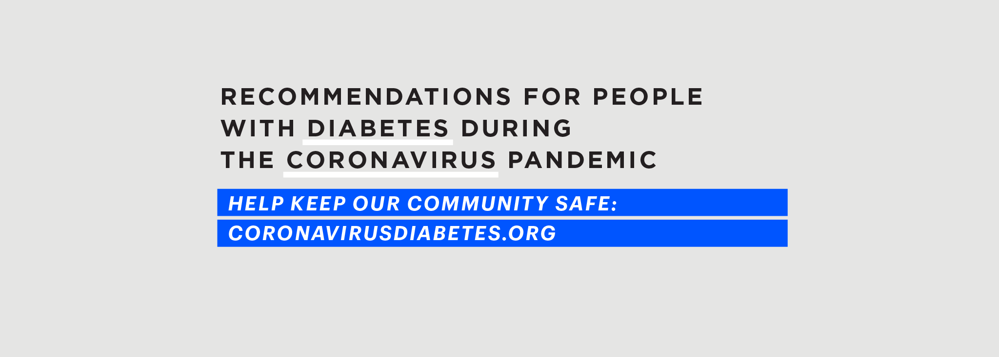 DYF Joins Global Effort to Reduce Risk For People with Diabetes During COVID-19 Pandemic